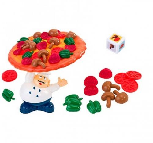 Joc de familie echilibru Pizza GLOBO - Jucarii copilasi - Arta indemanare