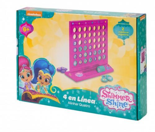 Joc de societate pentru copii 4 in Linie Saica 2632 Shimmer and Shine - Jucarii copilasi - Arta indemanare