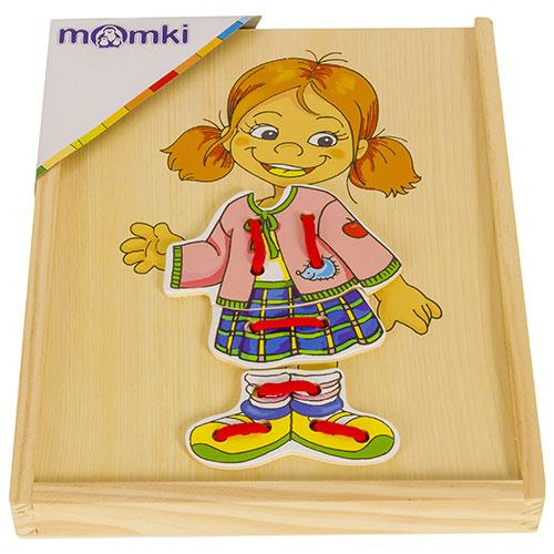 Joc din lemn invatam sa potrivim piesele - Jucarii Montessori -