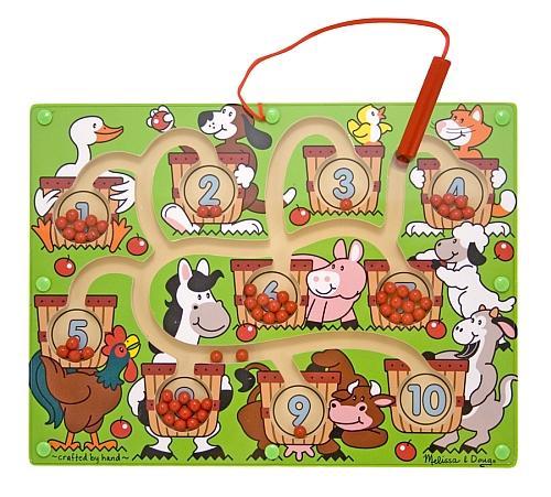 Joc Din Lemn Labirint Magnetic Numerele Melissa And Doug - Jocuri pentru copii - Jocuri magnetice