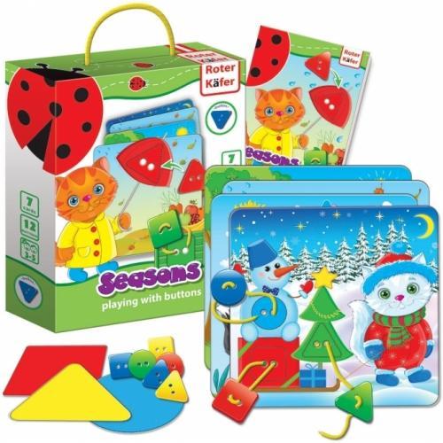 Joc educativ cu nasturi Anotimpuri Roter Kafer RK6101-08 - Jucarii copilasi - Jucarii educative bebe