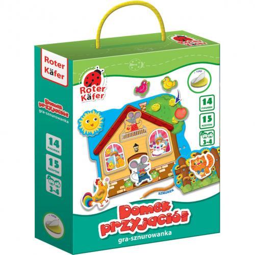 Joc educativ de cusut Casuta Prieteniei Roter Kafer RK1040-02 - Jucarii copilasi - Jucarii educative bebe