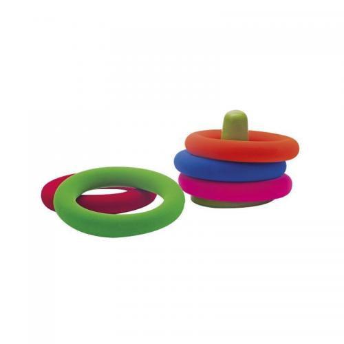 Joc educativ inele din cauciuc natural - Rubbabu - Jucarii copilasi - Jucarii educative bebe