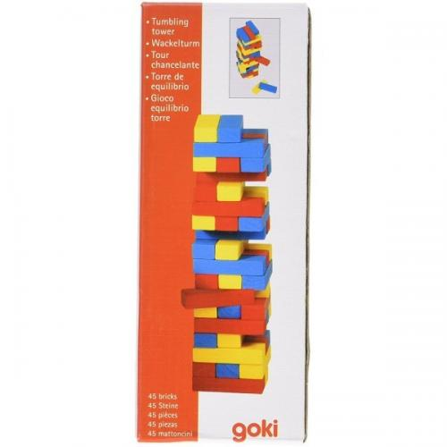Joc Jenga cu piese din lemn Colori - Jucarii copilasi - Arta indemanare