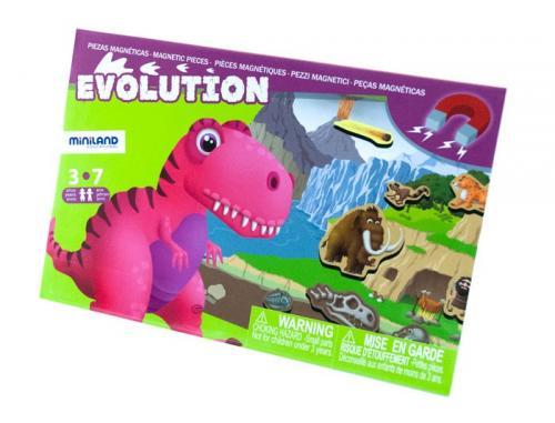 Joc Magnetic Descopera Evolutia Speciilor - Miniland - Jocuri pentru copii - Jocuri magnetice