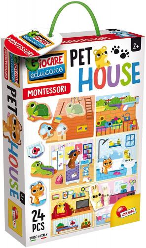 Joc Montessori - Casuta animalelor de companie - Jucarii copilasi - Arta indemanare
