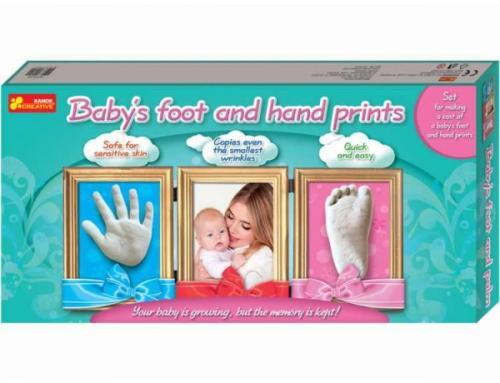 Joc pentru copii Amprenta mainii si piciorului copilului RANOK - Jucarii copilasi - Jucarii stiintifica