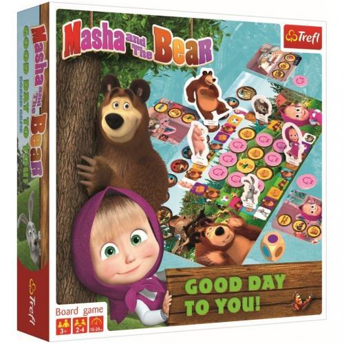 Joc Trefl Masha and the Bear - O zi buna - Jocuri pentru copii - Jocuri societate