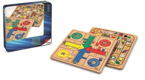 Jocuri LUDO si GOOSE in cutie metalica - Cayro - Jocuri pentru copii - Jocuri societate