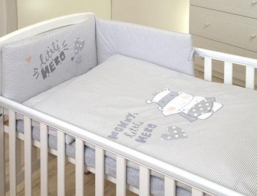 Jolie - aparatoare patut hero grey - 180*35cm - Camera bebelusului - Lenjerii patut