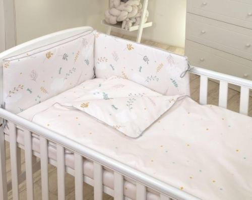 Jolie - lenjerie 3 piese airy beige - 120*60cm - Camera bebelusului - Lenjerii patut