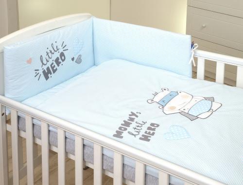 Jolie lenjerie 3 piese hero blue - 120*60cm - Camera bebelusului - Lenjerii patut