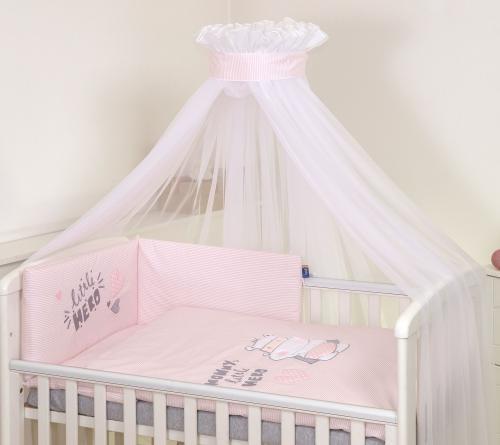 Jolie lenjerie 3 piese hero pink - 120*60cm - Camera bebelusului - Lenjerii patut