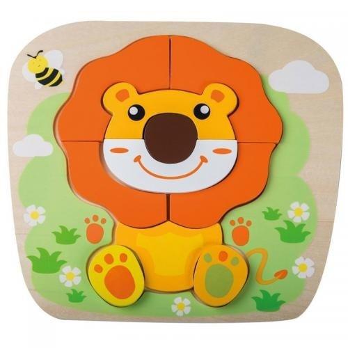 Joueco - Puzzle din lemn Leut - Jocuri pentru copii - Jocuri cu puzzle