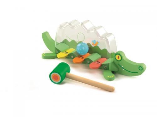 Jucarie bebelus crocodilul jucaus djeco - Jucarii bebelusi -