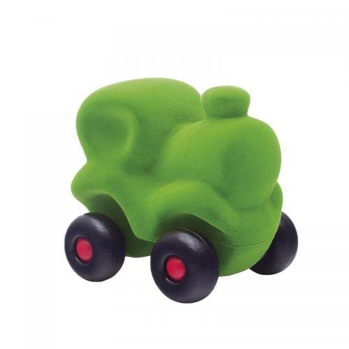 Jucarie cauciuc natural Trenuletul Choo-Choo - verde - medie - Rubbabu - Jucarii copilasi - Avioane jucarie