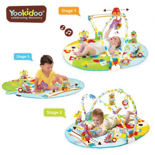 Jucarie centru de joaca cu jucarii mobile si activitati fizice - 0-12 luni - yookidoo - Carusele muzicale - Centre activitate