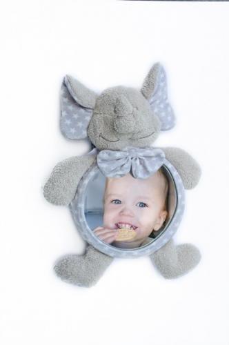 Jucarie de plus Elefant cu oglinda pentru casa si masina Bo Jungle - Jucarii copilasi - Jucarii din plus