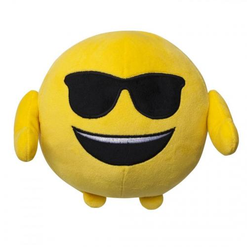 Jucarie de plus emoji emoticon (smiling face with sunglasses) 18 cm - Jucarii copilasi - Jucarii din plus