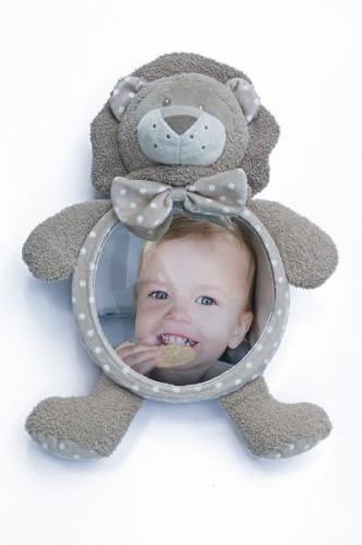 Jucarie de plus Leu cu oglinda pentru casa si masina Bo Jungle - Jucarii copilasi - Jucarii din plus