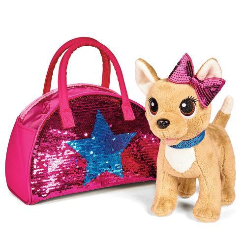 Jucarie de plus Simba Catel Chi Chi Love Swap fashion 20 cm cu geanta - Jucarii copilasi - Jucarii din plus