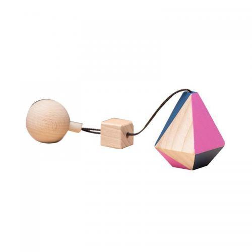 Jucarie din lemn corp geometric poliedru diamant - colorat - pentru carusel / centru de activitati - Mobbli - Jucarii copilasi -