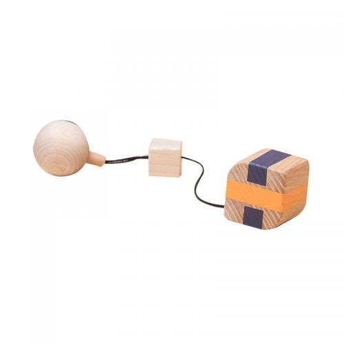 Jucarie din lemn corp geometric prisma-frunza - colorat - pentru carusel / centru de activitati - Mobbli - Jucarii copilasi -