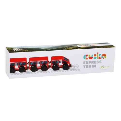 Jucarie din lemn - cubika - express train - Jucarii copilasi - Avioane jucarie