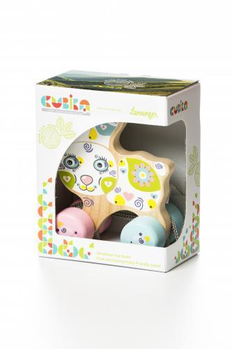 Jucarie din lemn - cubika - happy bunny - Jucarii Montessori -