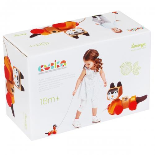 """Jucarie din lemn - cubika - """"prietena mea pisicuta"""" - Jucarii Montessori -"""