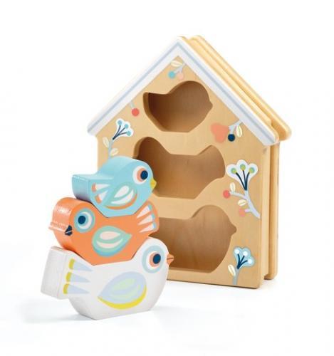 Jucarie din lemn djeco - babybirdi - Jucarii bebelusi -