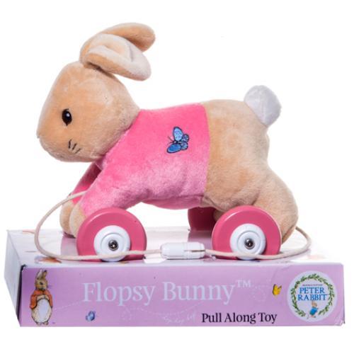 Jucarie din plus cu roti flopsy rabbit - Jucarii copilasi - Jucarii din plus