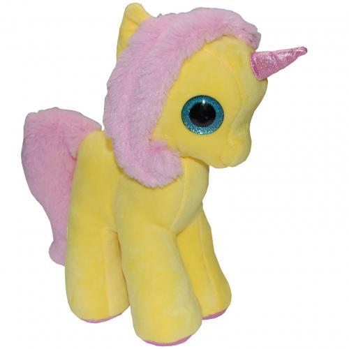 Jucarie din plus my cute unicorn - galben - 28 cm - Jucarii copilasi - Jucarii din plus