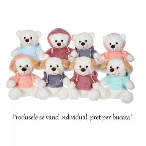 Jucarie din plus Ursulet(Catelus) cu hanorac 22 cm - Jucarii copilasi - Jucarii din plus