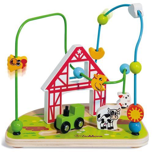 Jucarie Eichhorn Bead Maze Farm - Jucarii bebelusi -