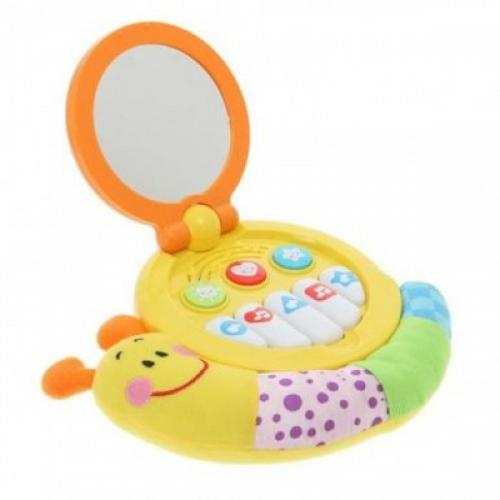 Jucarie muzicala bebelusi Winfun melc cu oglinda - Jucarii bebelusi - Jucarie muzicala