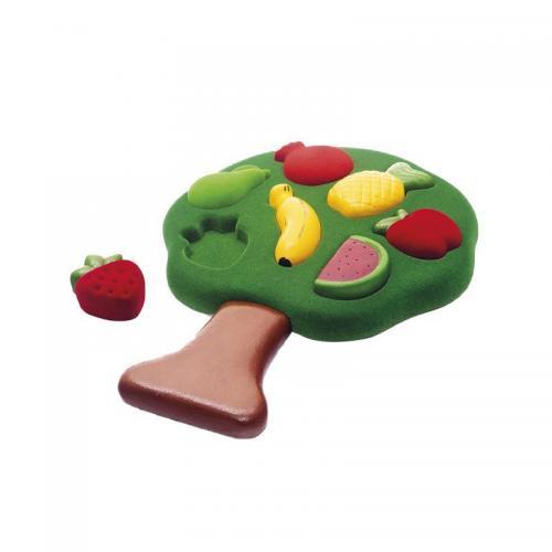Jucarie sortator forme 3D din cauciuc natural Fructele - Rubbabu - Jocuri pentru copii - Board games
