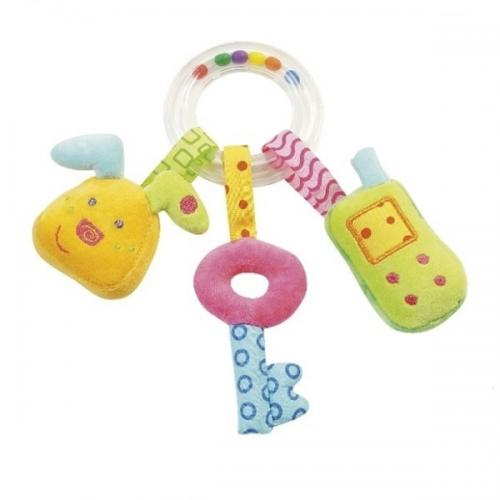 Jucarie zornaitoare Iepuras - Cheita & Telefon mobil - Brev Soft Toys-142242 - Jucarii bebelusi - Zornaitoare