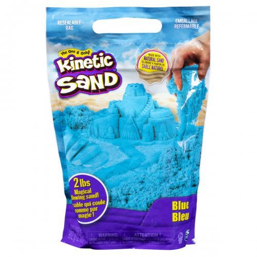 Kinetic sand 900grame albastru - Jucarii copilasi - Toys creative