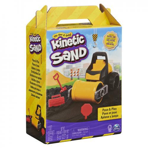 Kinetic sand set constructii asfalteaza si niveleaza - Jucarii copilasi - Toys creative