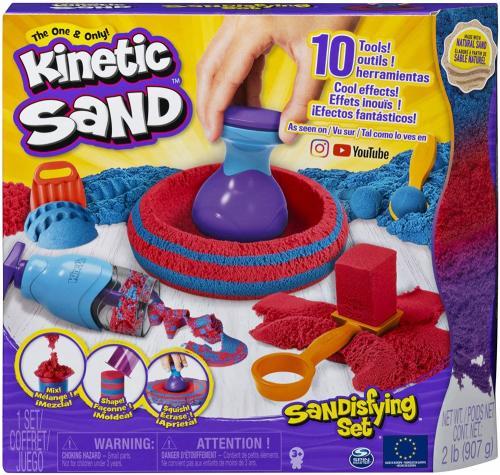 Kinetic sand set sandtastic cu 10 accesorii si nisip - Jucarii copilasi - Toys creative