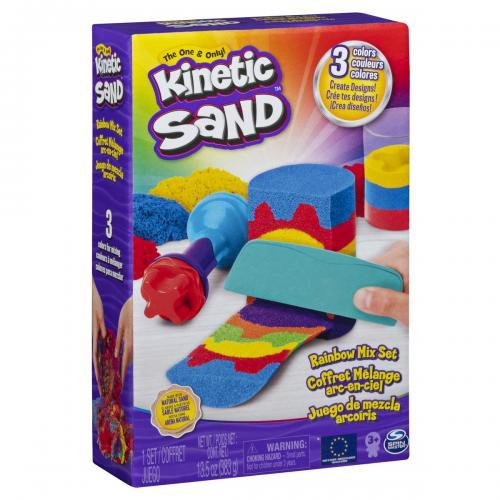 Kinetic sand set unelte de curcubeu cu accesorii - Jucarii copilasi - Toys creative
