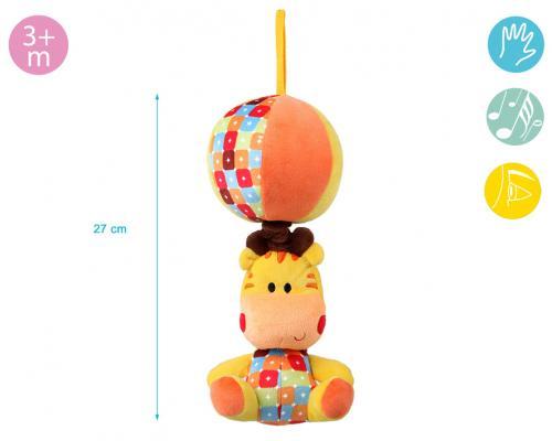 Kiokids –jucarie Plus Muzicala Girafa Cu Mingiuta - Jucarii bebelusi - Jucarie muzicala