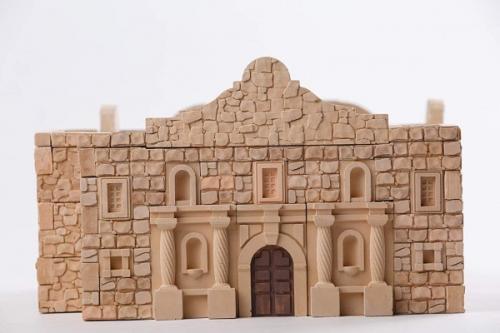 Kit constructie caramizi Wise Elk Fortareata Alamo 510 piese reutilizabile - Jucarii copilasi - Arta indemanare