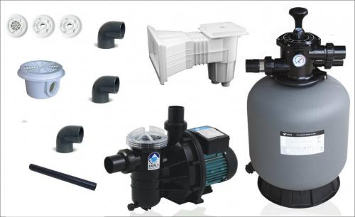 Kit (kituri) filtrare piscine beton volum maxim 24 mc - Jucarii exterior - Piscine