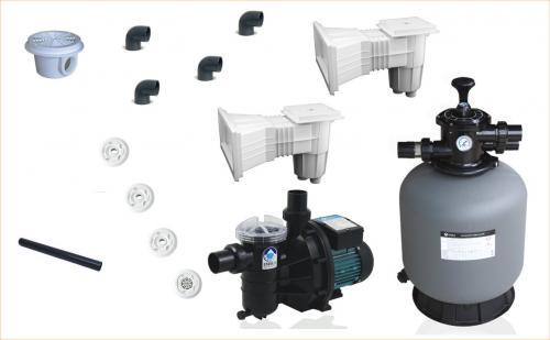 Kit (kituri) filtrare piscine beton volum maxim 55 mc - Jucarii exterior - Piscine