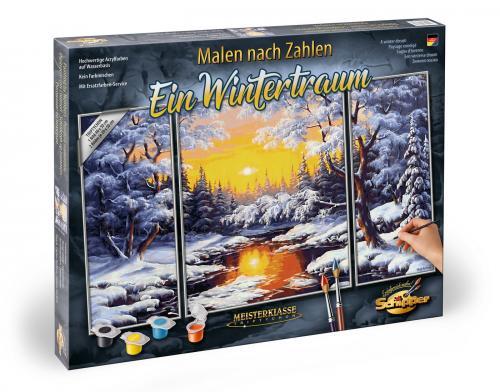 Kit pictura pe numere schipper iarna - 3 tablouri - Jucarii copilasi - Toys creative