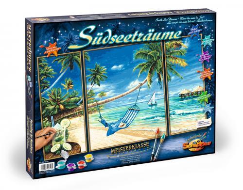 Kit pictura pe numere schipper pe plaja - 3 tablouri - Jucarii copilasi - Toys creative
