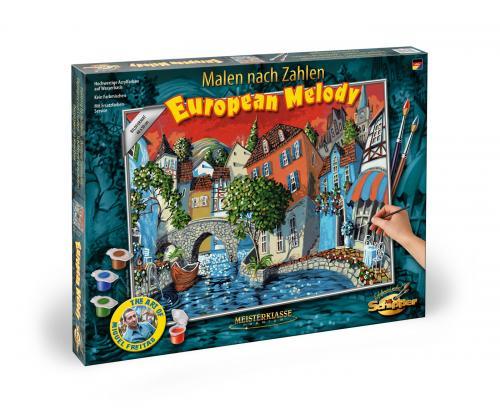 Kit pictura pe numere schipper the european melody - Jucarii copilasi - Toys creative
