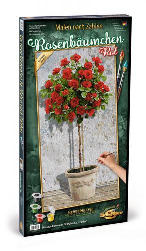 Kit pictura pe numere schipper trandafir in ghiveci - Jucarii copilasi - Toys creative